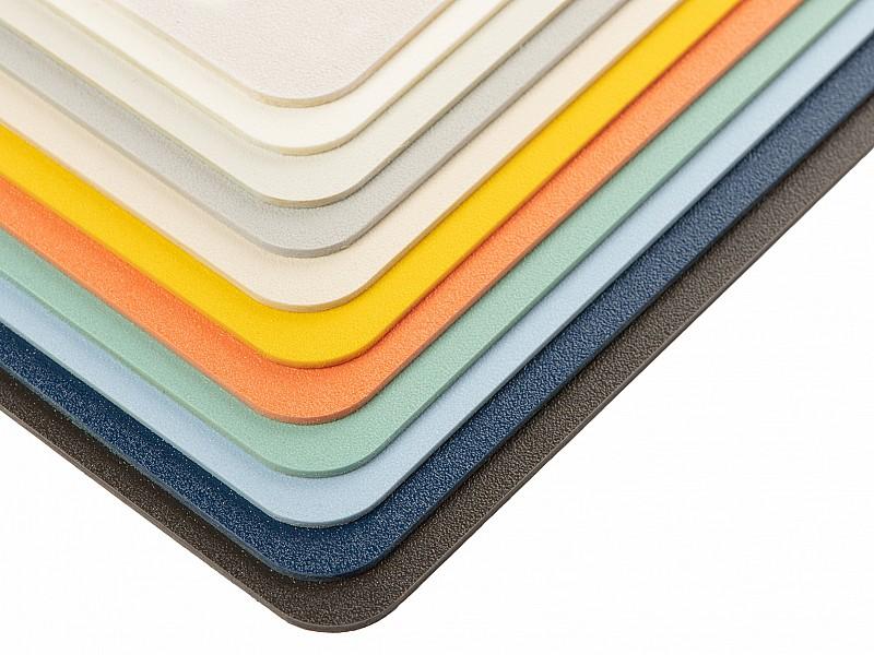 SABIC LEXAN CINIWALL sheet-FF-swatch_all colors_close up